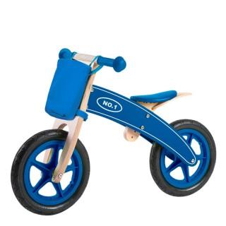 Bicicleta sem pedais de madeira Azul Play & Learn